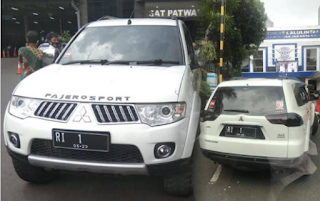 Nekat Masuk Mabes Polri Pakai Pelat RI-1, Mobil Pajero Sport Diamankan
