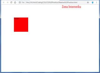 Mengatur Elemen Dengan CSS Position Relative