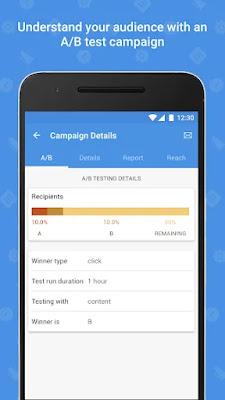 Screenshot Zoho Email Marketing - Apcoid