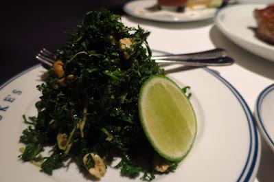 Luke's Oyster Bar & Chop House, kale salad