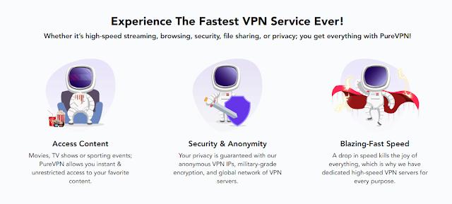 استمتع بإنترنت سريعة وتصفح بأمان المواقع المحظورة مع PureVPN سارع بالتجربة !
