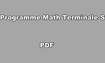 Programme Math Terminale S PDF