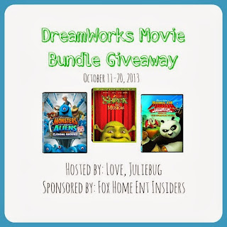 Enter to win a trio of movies in the DreamWorks Movie Bundle Giveaway, ends 10/21.
