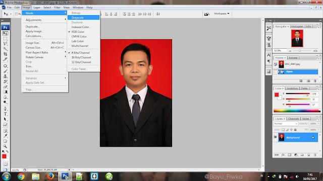 cara mudah merubah foto berwarna menjadi hitam dan putih