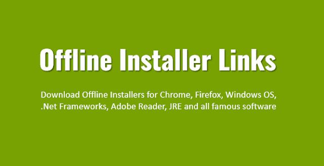 Offline Installer Links Famous Software