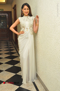 Actress Pragya Jaiswal Stills in Beautiful White Dress at turodu Audio Launch  0052.JPG