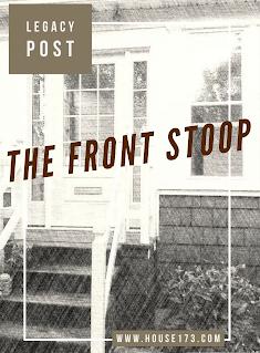 Original Blog Post flyer for the front stoop renovation