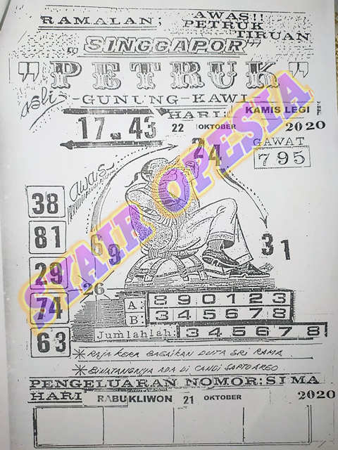 Kode syair Singapore Kamis 22 Oktober 2020 57