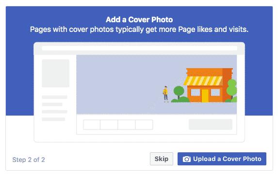صفحة أعمال على الفيس بوك