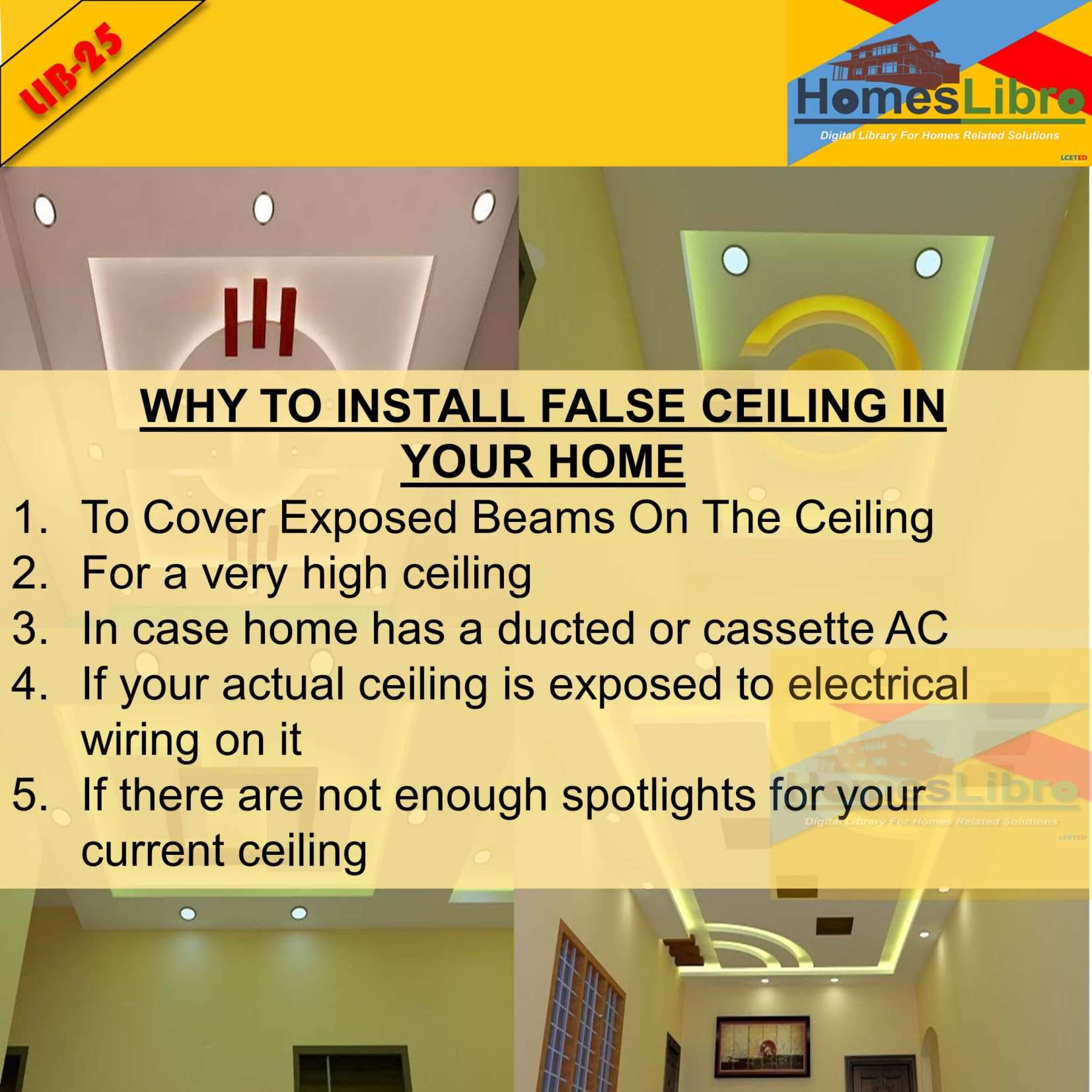 WHY SHOULD INSTALL FALSE CEILING IN YOUR HOME