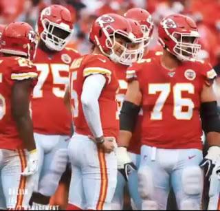 "Patrick Mahomes having fun with his NFL team mates "" Chiefs"""