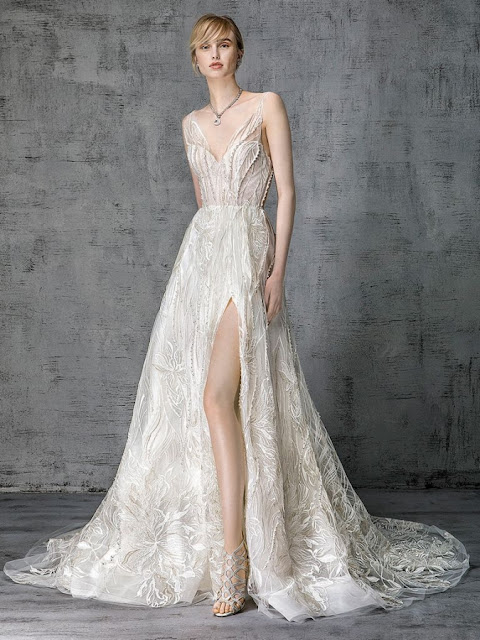 K'Mich Weddings - wedding planning - wedding dresses - heroine collection lace, long slit on the thigh -vicotia kyriakides