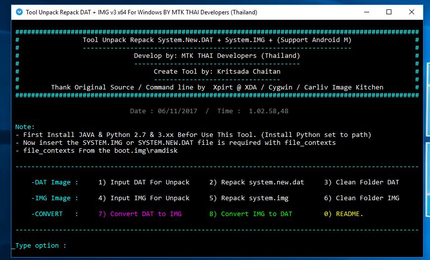 Cara Unpack dan Repack system new dat system img Untuk Windows