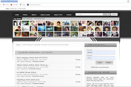 Aplikasi Fotografi Berbasis Web Dengan PHP dan Database MySQL Gratis