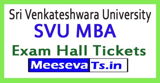 Sri Venkateshwara University SVU MBA Exam Hall Tickets 2017