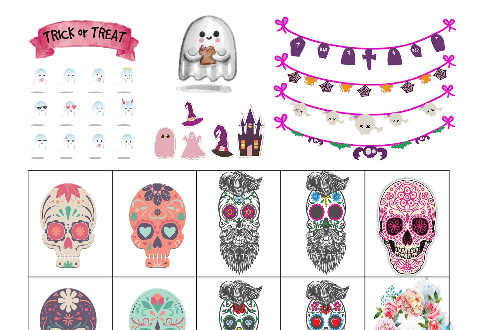 photograph about Halloween Stickers Printable called Malena Haas: ❤FREEBIE Friday❤ Halloween Sticker Printable