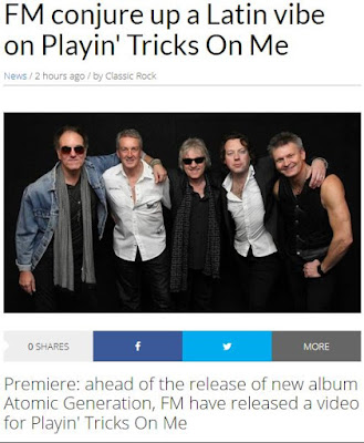 "FM video premiere ""Playing Tricks On Me"" at Classic Rock Magazine"