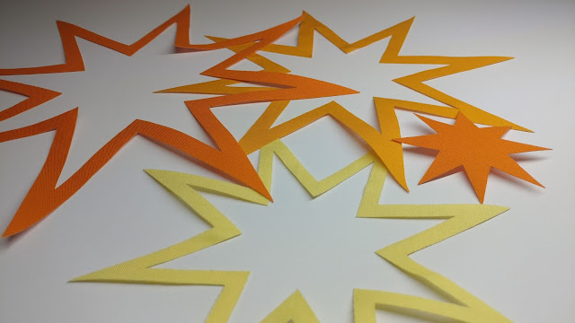 Starburst quilt pattern pieces