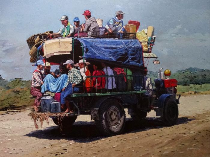 Художник из Мьянмы