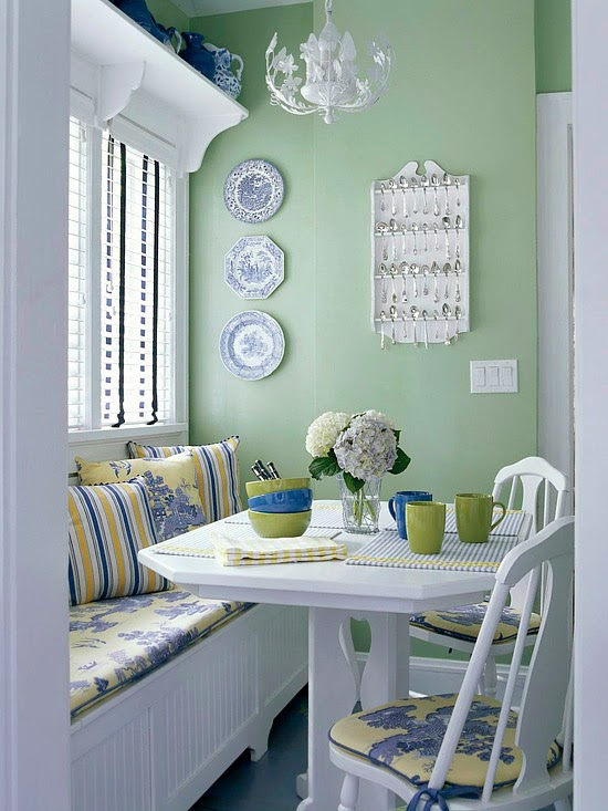 Modern Furniture 2014 Comfort Breakfast Nook Decorating Ideas