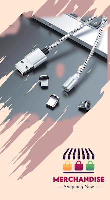 كابل مغناطيس, كابل شحن, جميع الوصلات, دوران 356 درجة Magnetic cable, type c, micro, iPhone,