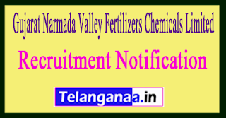 Gujarat Narmada Valley Fertilizers Chemicals Limited GNFC Recruitment Notification 2017