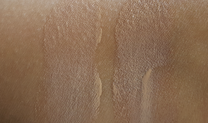 Swatches: L´ORÉAL Paris - Glam Beige Healthy Glow Cushion Foundation - Light & Medium Light