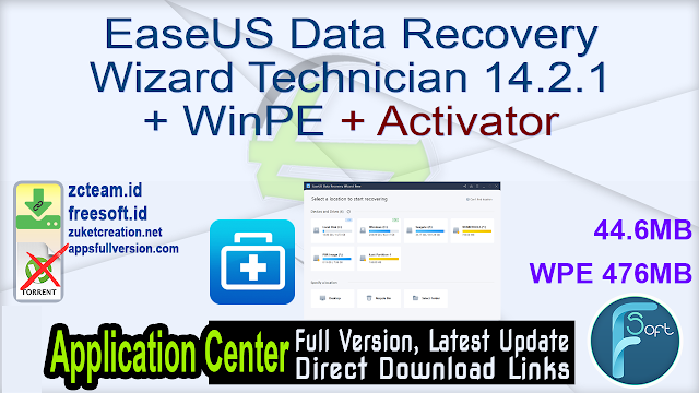 EaseUS Data Recovery Wizard Technician 14.2.1 + WinPE + Activator_ ZcTeam.id
