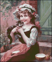 Gerl with Kitten