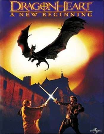 Poster Of Dragonheart A New Beginning 2000 Dual Audio 720p DVDRip [Hindi - English] Free Download Watch Online Worldfree4u