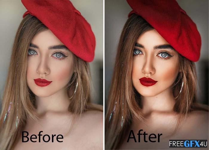 Beautify v2 Face Retouching panel
