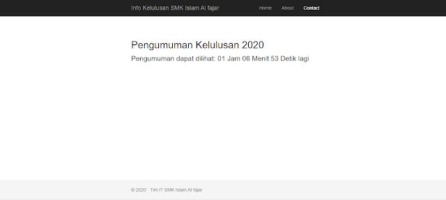 Tampilan Aplikasi Kelulusan SMK Terbaru