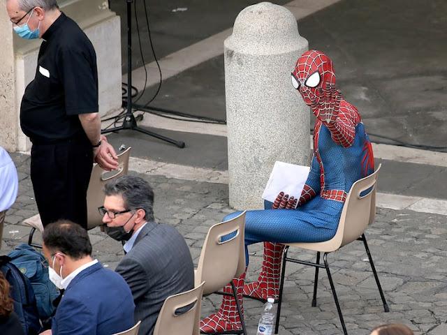 Spiderman at Vatican photo