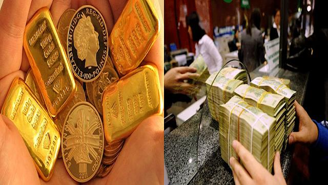 Kết quả hình ảnh cho đầu tư vàng hay gửi tiết kiệm
