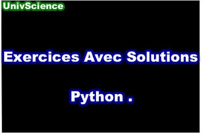 Exercices Avec Solutions Python PDF.