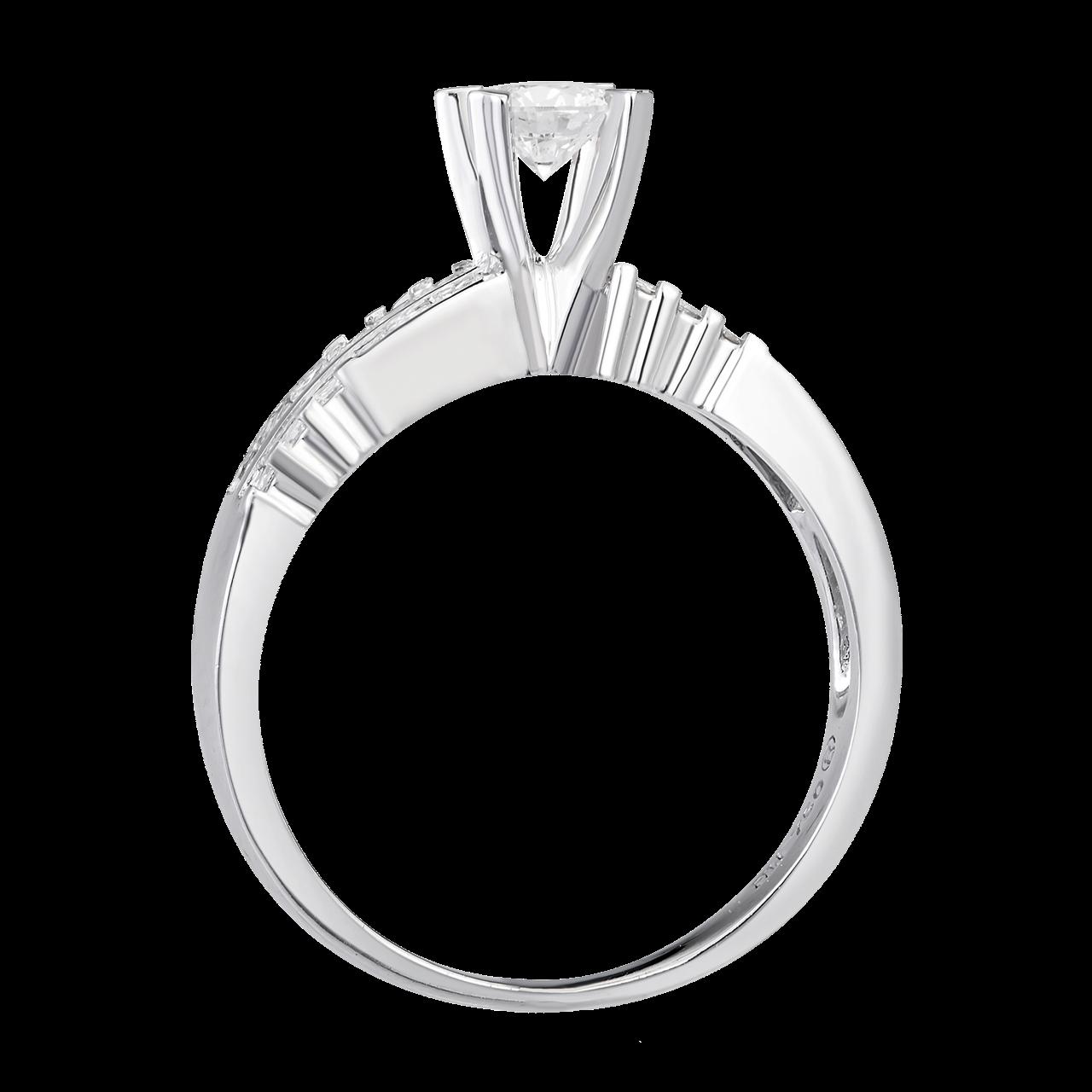Nhẫn Kim cương Vàng trắng 14K PNJ DDDDW000703