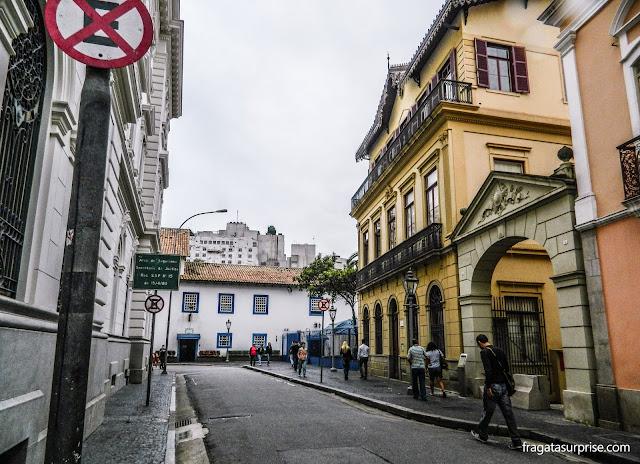 Rua Roberto Simonsen, caminho entre o Solar da Marquesa e o Pátio do Colégio, Centrão de São Paulo
