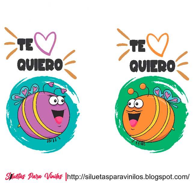 Vectores de Parejas Te Quiero (Free Download Vector)
