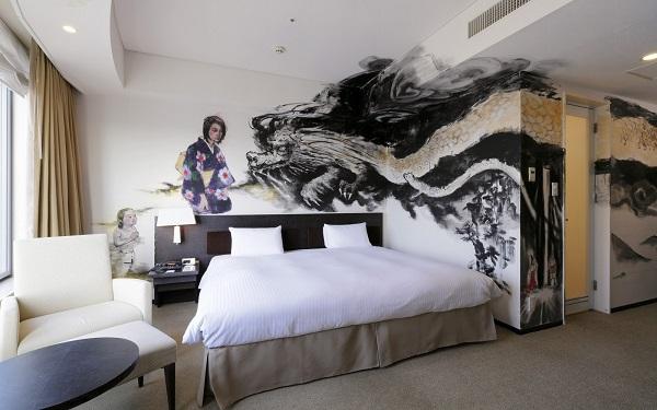 No. 4 Park Hotel Tokyo Artist Room 'Dragon' designed by Kiyoko Abe
