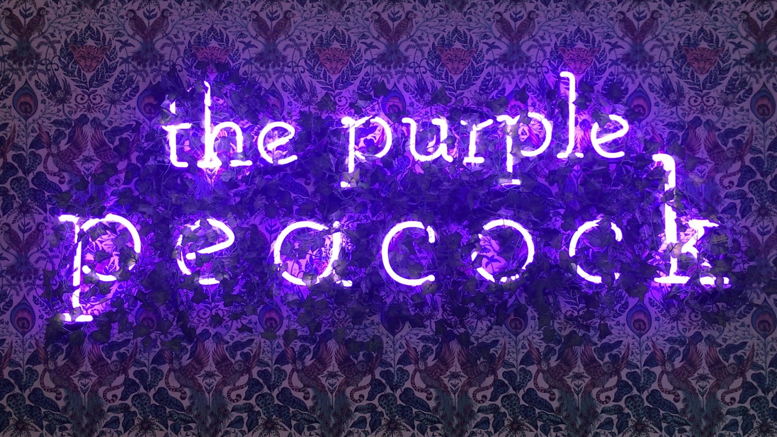 THE PURPLE PEACOCK STRUTS ITS STUFF