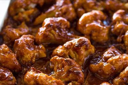 Recipe: Baked Spicy Honey BBQ Cauliflower Wings