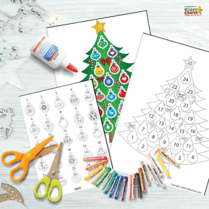 printable christmas tree countdown