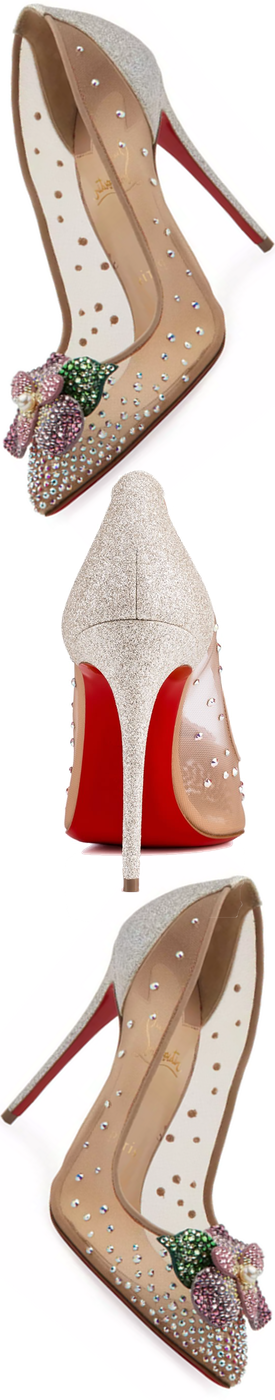 Christian Louboutin Feerica Crystal-Embellished Red Sole Pump