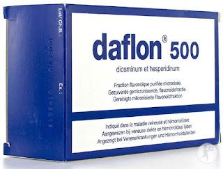 Daflon 500 mg- biệt dược nổi tiếng nhất của Diosmin- hesperidin