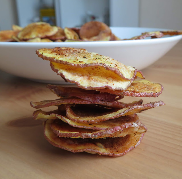 Microwave Cooked Potato Chips
