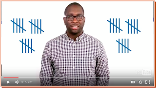 Screenshot of the HRC video, showing 30 hashmarks to indicate the number of states with HIV-related criminalization laws.