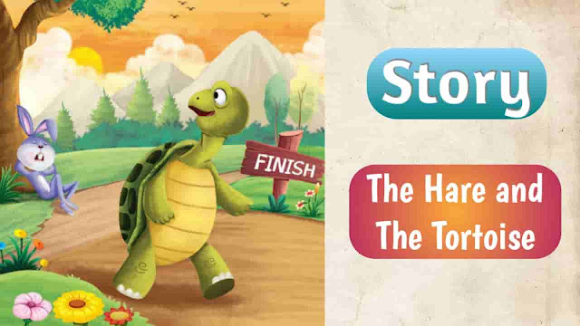 Story the hare and the tortoise, story slow but steady wins the race