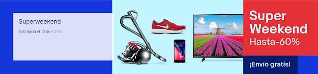 Mejores smartphones Super Weekend eBay Marzo 2018