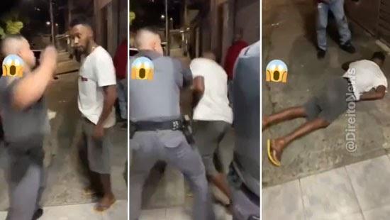 racismo homem lixo negao agredido pm