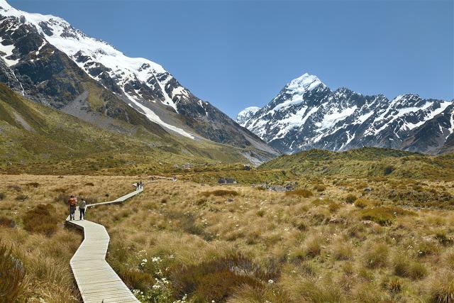 Randonnée Mont Cook Nouvelle Zelande